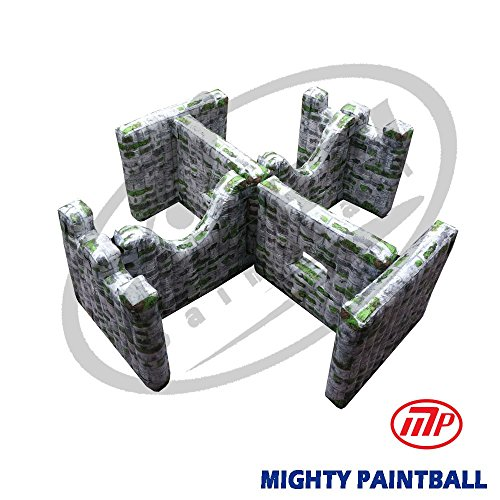 MP Paintball Air Bunker - wall panel combination - Double H shape, 2A2G2H2F (MP-SB-WP02) by MP - Mighty Products