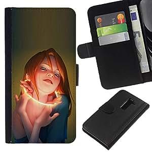 All Phone Most Case / Oferta Especial Cáscara Funda de cuero Monedero Cubierta de proteccion Caso / Wallet Case for LG G2 D800 // Glow Woman