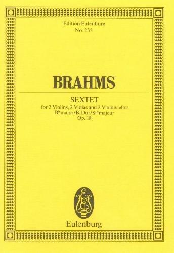 Brahms: Sextet Bb major Op 18 (Study Score)
