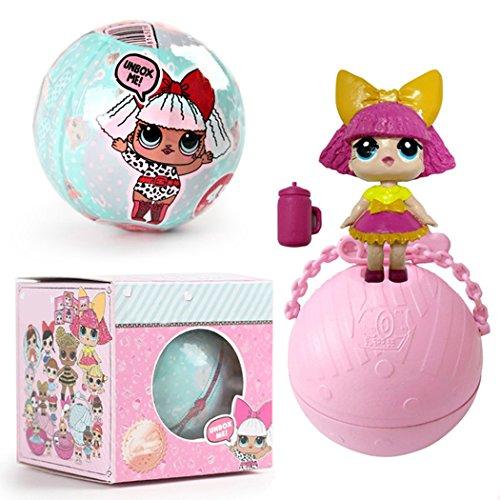 Cool Surprise Doll Balls, Kid's Guardians Doll Toy Unisex 1 Pcs ( Random color ) by Cindere