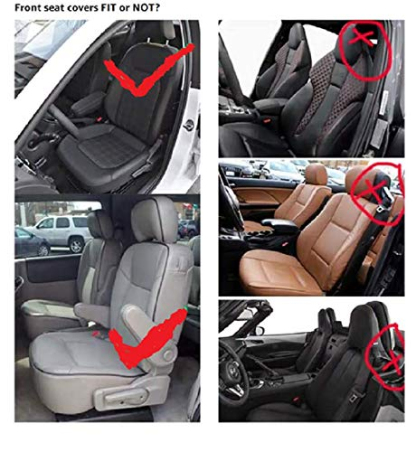 Skysep Cartoon Full Set Universal Fit 5 Seats Car Surrounded Waterproof Leather Car Seat Covers Protector Adjustable Removable Auto Seat Cushions (Black) by Skysep (Image #5)