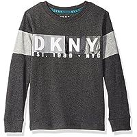 DKNY Boys' Long Sleeve Slub Jersey Crew Neck T-Shirt