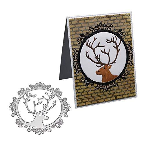 Cutting Dies, Birthday Metal Die Cutting Dies Handmade Stencils Template Embossing for DIY Card Scrapbooking Craft Paper Decor