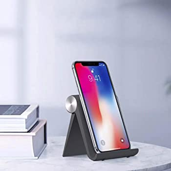 Mayten Adjustable Universal Foldable Cell Phone Stand (Black)