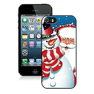 Custom-ized Design Iphone 5S Protective Cover Case Santa Claus iPhone 5 5S TPU Case 12 Black