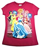 Disney Princesses Size 6X T-Shirt; Officially Licensed Disneys Princess Girls Childs Shirt for Kids; Featuring Jasmine, Belle, Cinderella, & Ariel; Great Gift Idea