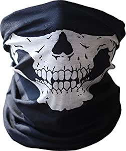 Hyperia Stretchable Tubular Skull Bandana Motorcycle Biker Snowboards Helmet Neck Face Mask Paintball Ski Sport Headband (1 Piece)