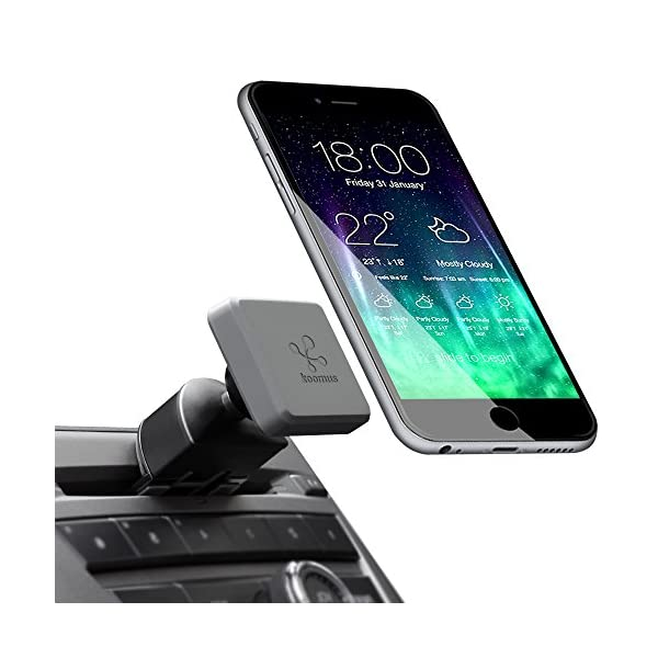 Koomus Pro CD M Universal CD Slot Magnetic Cradle Less Smartphone Car Mount Holder For All IPhone And Android Devices, Single