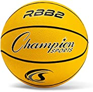 Champion Sports Bolas de basquete de nylon com tampa de borracha resistente oficial
