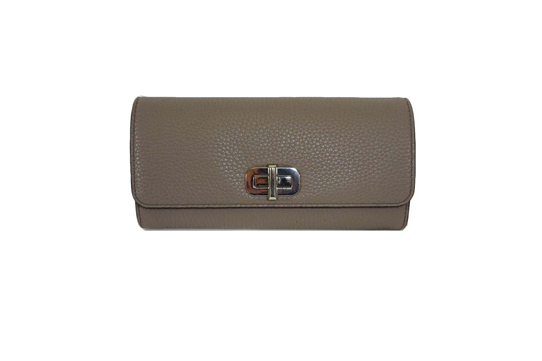 Michael Kors Sullivan Large Pebble Leather Carryall Wallet Cinder
