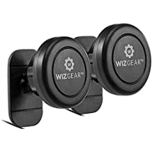 Magnetic Mount, WizGear Universal Stick On (2 PACK) Dashboard Magnetic Car Mount Holder, for Cell Phones and Mini Tablets with Fast Swift-snap Technology, Magnetic Cell Phone Mount