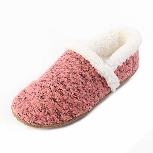 Toms Womens House Slippers Faded Rose Woolen Shoes