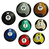 CanDo Firm Fitness Medicine Balls 8-piece Bundle - 1 each: 1, 2, 4, 7, 11, 15, 20, 30 LB