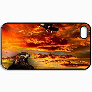 Personalized Protective Hardshell Back Hardcover For iPhone 4/4S, Goldeneagle Design In Black Case Color