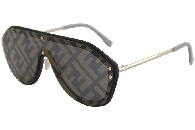 a5dc309cd8 Fendi Men FF M0039/G/S 2M2 7Y anteojos de sol de plástico negro y ...
