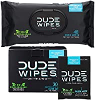 DUDE Wipes Flushable Wet Wipes (48 Count Dispenser and 30 Single