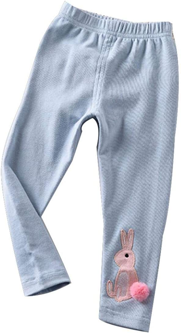 Vinjeely Toddler Baby Girls Pants Autumn Cartoon Rabbit Printed Casual Long Pants Trousers