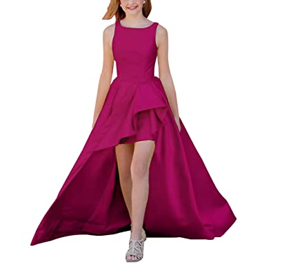 7b0c02bf241 Rjer High Low Prom Dresses Long A Line Satin Evening Gowns for Women 2019  with Pockets at Amazon Women s Clothing store