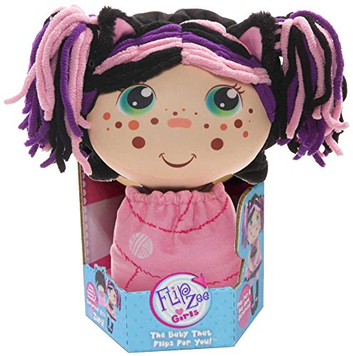 Flip Zee Girls (Zuri Kitty Cat 2-in-1 Plush Doll by Jay at Play Soft & Squeezable Toy Instantly Switches from 12in Baby to 18in Big Girl Surprise from Flip Zee Girls