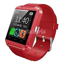 Bluetooth Smart Watch WristWatch U8 U Watch for Samsung S4/Note2/Note3 Android Smartwatch Red