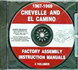 1967 1968 1969 CHEVY CHEVELLE, MALIBU & EL CAMINO FACTORY ASSEMBLY INSTRUCTION MANUAL CD. INCLUDES: 300, Deluxe, Malibu, SS, SS-396, Concours, El Camino, Convertibles, 2- & 4-door hardtops, Station Wagons & Super Sports CHEVROLET 67 68 69
