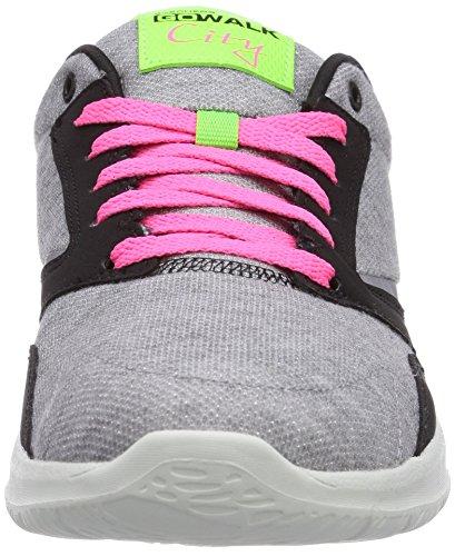 Skechers Aller Marcher Ville Uptown Womens Chaussures De Marche Gris / Noir