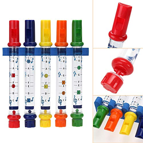 Musical Toy, Anytec Water Flutes Whistles Music Song Instruments Kids Baby Fun Creative Bathtub Puzzle Toy with Free Sheet ()