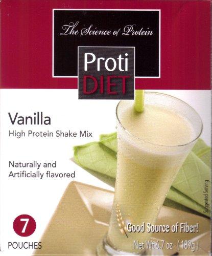 Protidiet Shake - Vanilla (7 / boîte) Poids net 6,7 oz