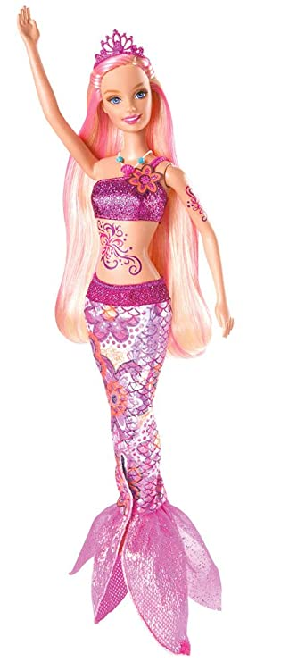 V8661 Barbie come Merliahsirenabambola Mattel dal SzMGLpqVU