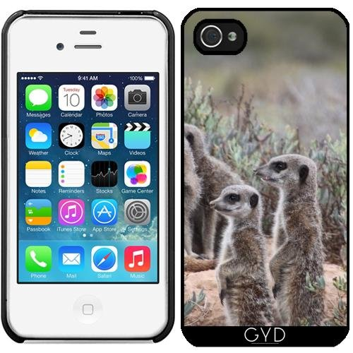 Coque pour Iphone 4/4S - Suricate Dans La Nature by WonderfulDreamPicture