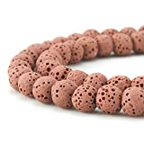 Best BEADNOVA Jewelry Supplies - BEADNOVA 6mm Color Lava Gemstone Beads Energy Stone Review