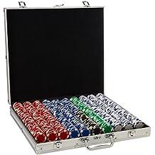 Trademark Poker 1000 Holdem Poker Chip Set with Aluminum Case, 11.5gm