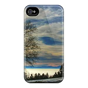 Tpu Shockproof/dirt-proof Sunny Day In Winter Cover Case For Iphone(4/4s)