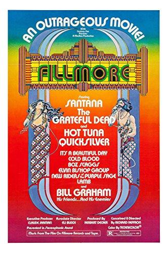 Dead Vintage Poster (Old Tin Sign Concert Posters Fillmore Santana Grateful Dead)