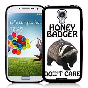 Cool Painting Honey Badger Don't Care - Protective Designer BLACK Case - Fits Samsung Galaxy S4 i9500