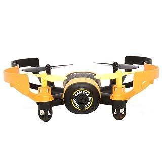 BEETEST 512V Drone Mini 4 canal 6 ejes 2.4 GHz RC girocompás Drone Quadcopter helicóptero de juguete con 0.3MP cámara Amarillo