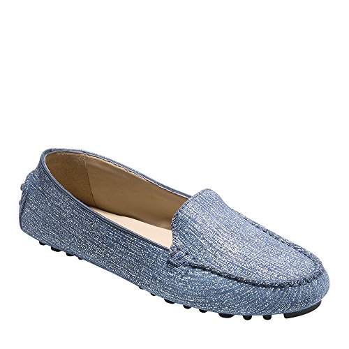 Cole Haan Womens Hanneli Driver 7.5 Marine Blue With White - Shoes Driving Cole Haan Women