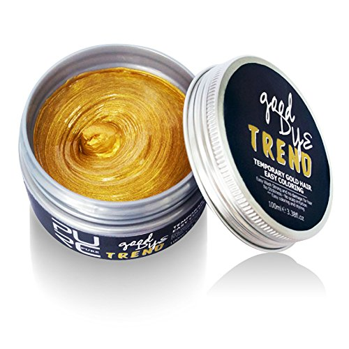 Spdoo Dye Hair Wax 5.29 oz, Professional Hair Coloring&Styling Wax, Natural Matte Hairstyle Wax for Men&Women, Ideal for Halloween Party Christmas (Mens Blonde Hairstyles)