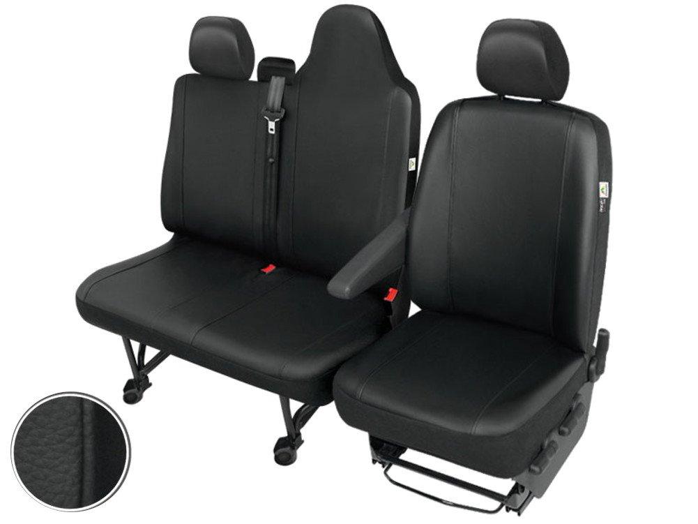 per sedile del conducente e sedile doppio a panca seduta intera Set di coprisedili anteriori in similpelle