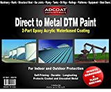 Direct to Metal DTM Paint - 1 Gallon 2-Part Epoxy Coating - White