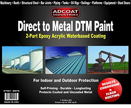 Direct to Metal DTM Paint - 1 Gallon 2-Part Epoxy Coating - -