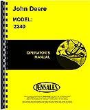 John Deere 2240 Tractor Owner Operators Manual s/n 0-349,999
