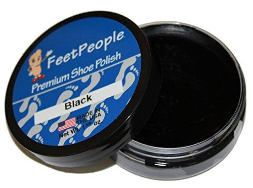 (FeetPeople Premium Shoe Polish Wax, Black, 1.625)