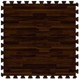 Walnut 24 in. x 24 in. Comfortable Wood Grain Mat (100 sq.ft. / Case)