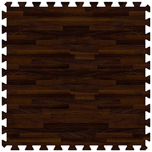Walnut 24 in. x 24 in. Comfortable Wood Grain Mat (100 sq.ft. / Case) by Groovy Mats