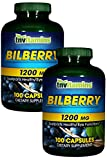 TNVitamins Bilberry 1200 Mg. Softgels – 100 Capsules (2×100 Capsules) Review