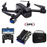 Contixo F22 RC GPS Quadcopter Foldable Drone | Selfie, Gesture, Gimbal 1080P FPV WiFi Camera, GPS, Return Home, Follow Me, Waypoint for Adults, Beginners and Experts Includes Drone Storage Case