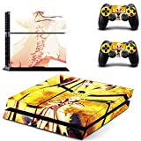 Skinia PS4 Console Designer Skin for Sony PlayStation 4 System plus Two(2) Decals for: PS4 Dualshock Controller - NARUTO Uzumaki Naruto