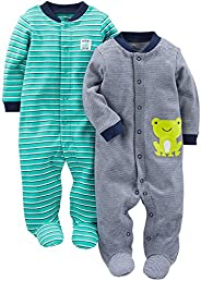 Simple Joys by Carter's Baby-Boys 2-Pack Cotton Snap Footed Sleep and