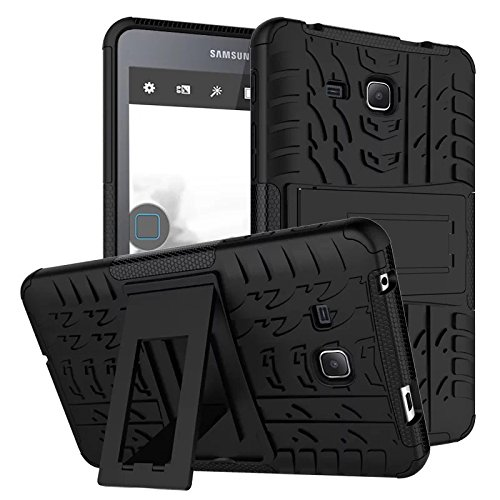 best sneakers 4a3dd 0c5a5 Samsung Galaxy Tab A6 7.0 2016 T280 T285 Case, BAUBEY Hybrid Rugged Armor  Tough Shock Proof Hard Tire Tread Rubber Case Cover Stand for Samsung  Galaxy ...